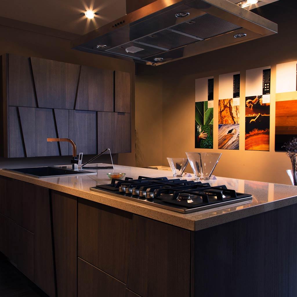 cucina con isola grattarola palermo se arredi