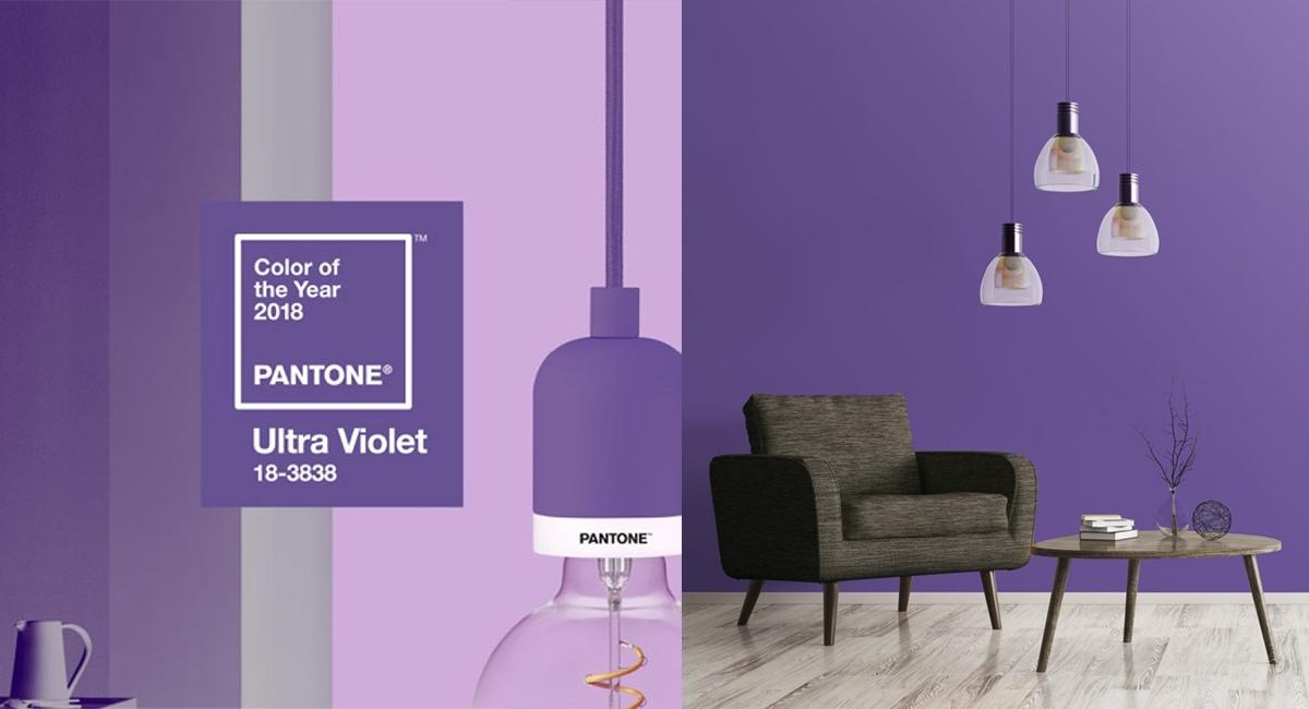 Il Pantone 18-3838 Ultra Violet: l'ultima tendenza del 2018 nel Design degli Interni